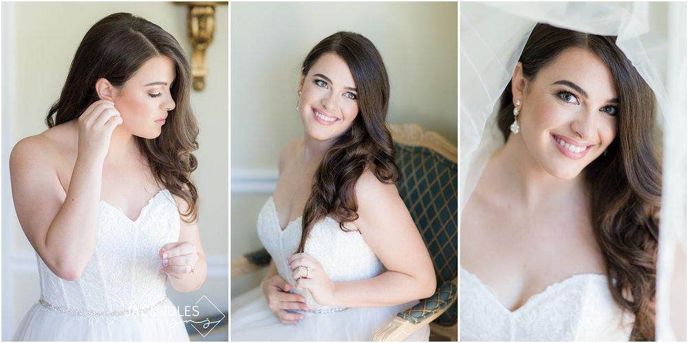 Bridal portraits at home in Manasquan, NJ.