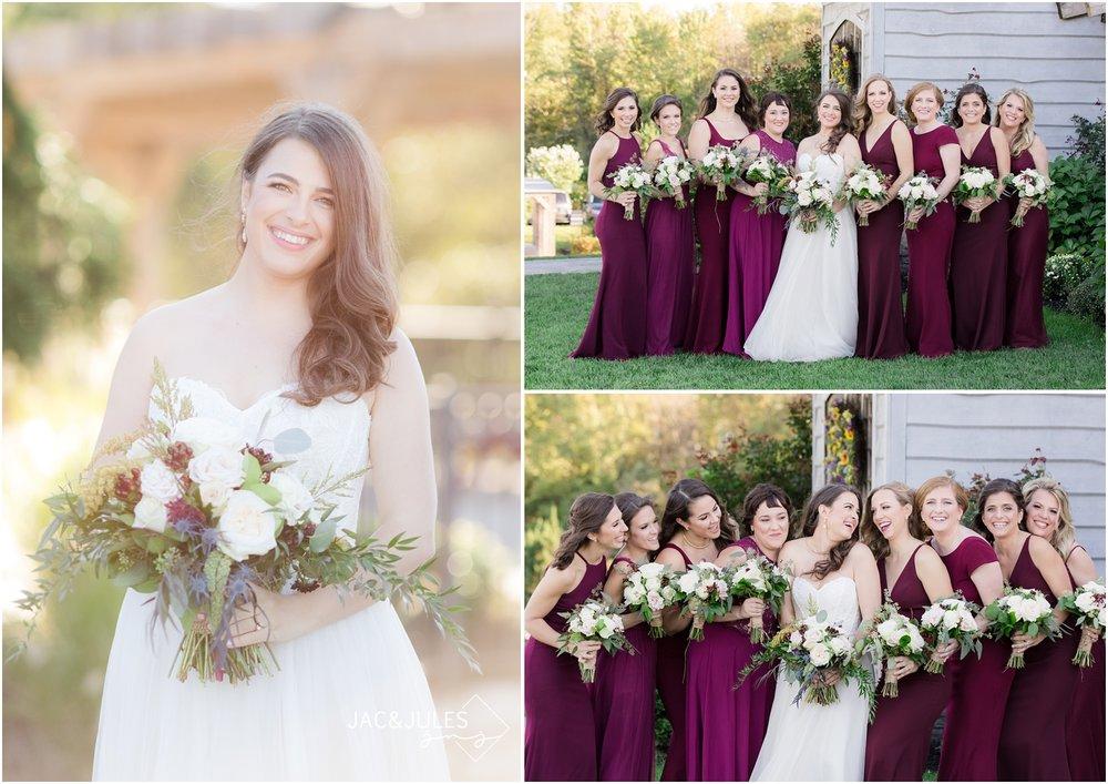 Bridesmaids photos at Laurita Winery.