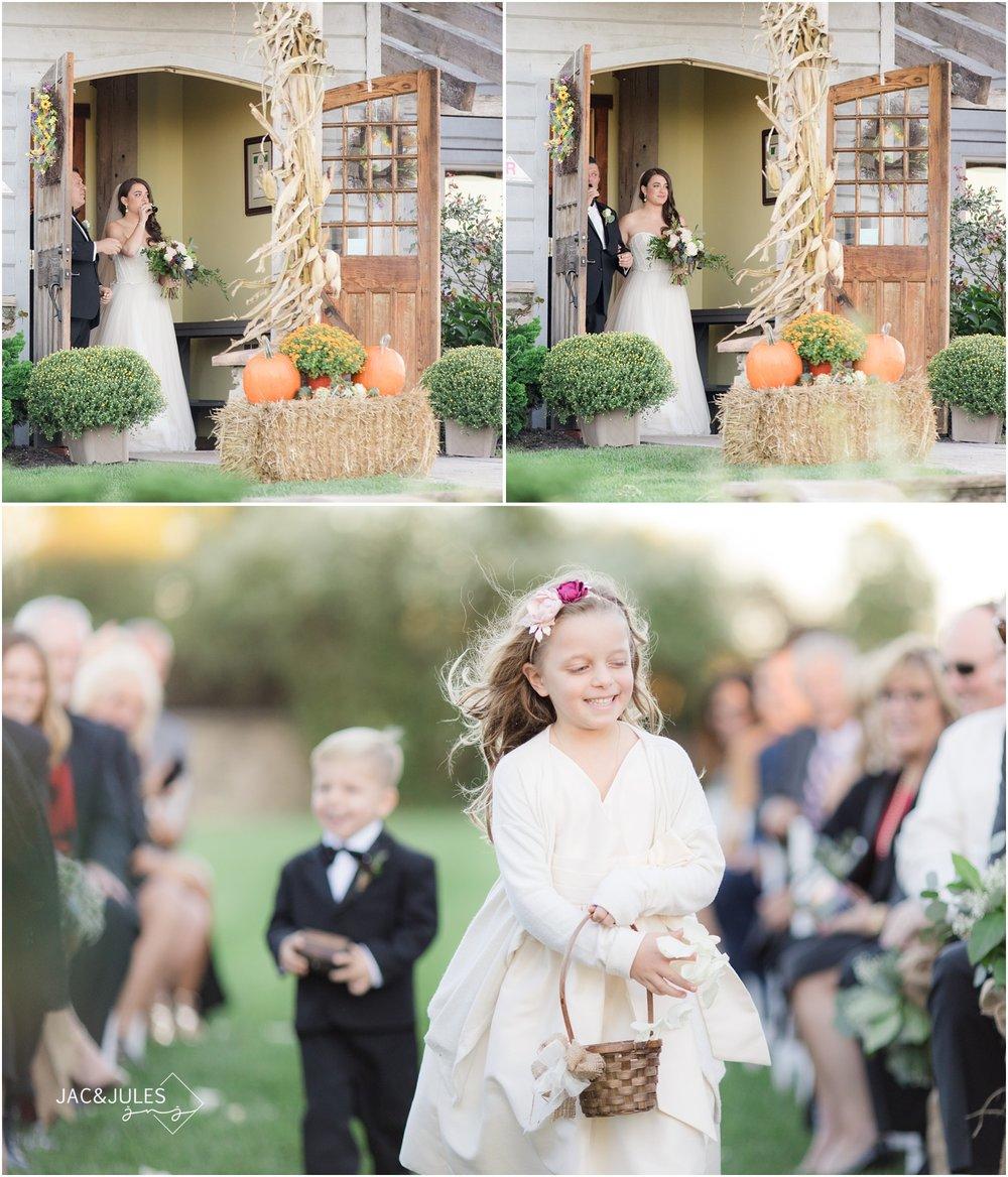Vineyard wedding ceremony at Laurita Winery.