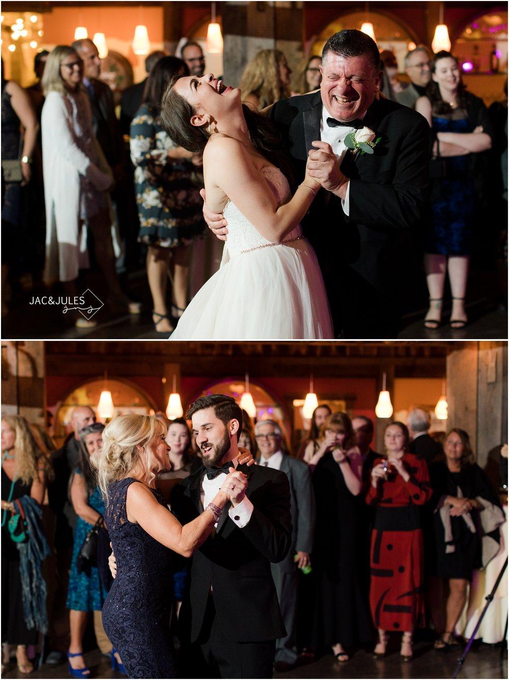 Parent Dances at wedding reception at Laurita Winery.