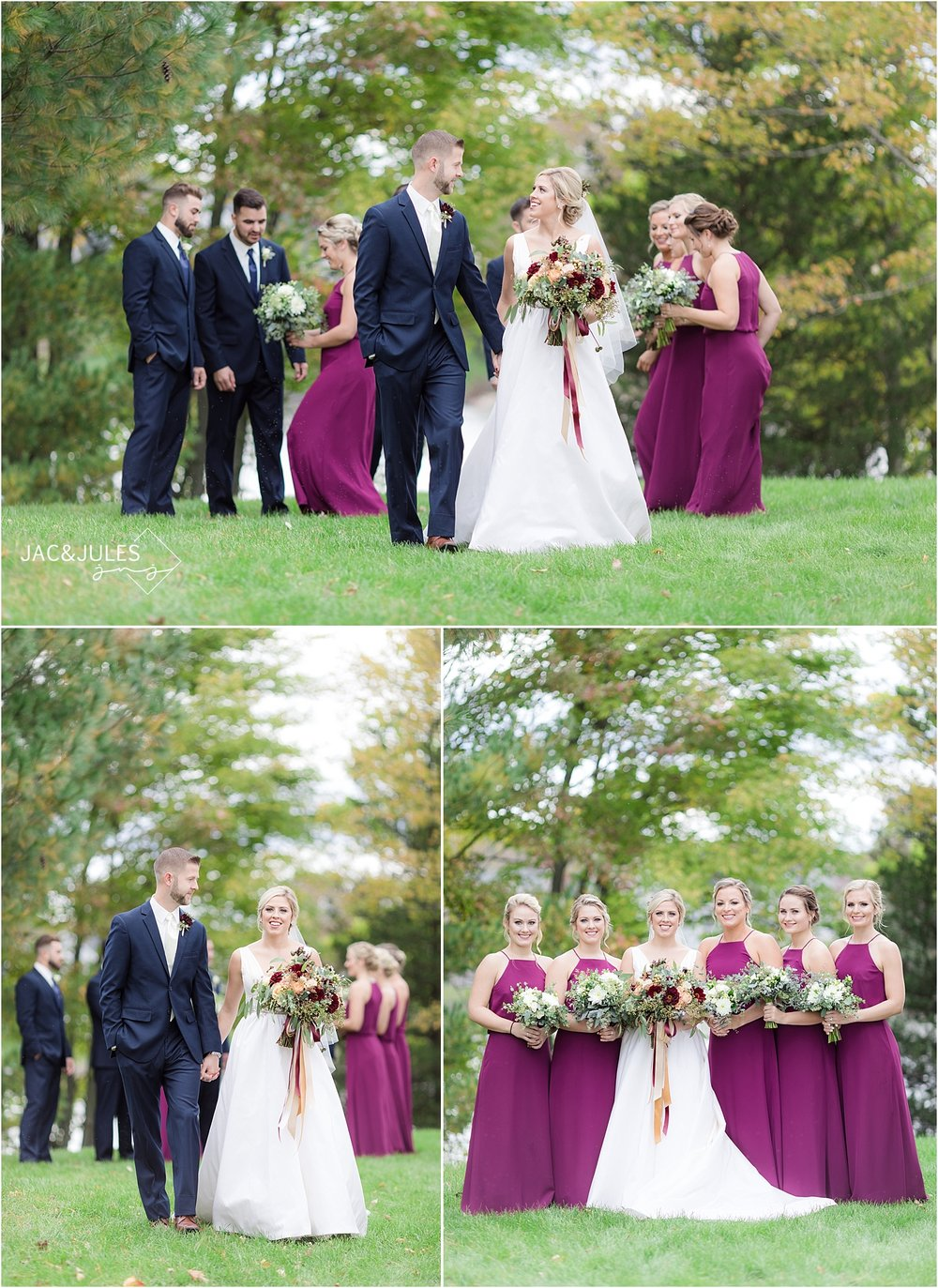 romantic fall wedding in Germantown NY