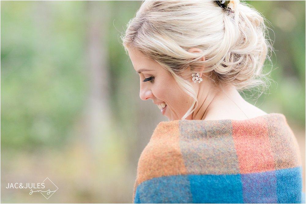 bridal hair for fall wedding