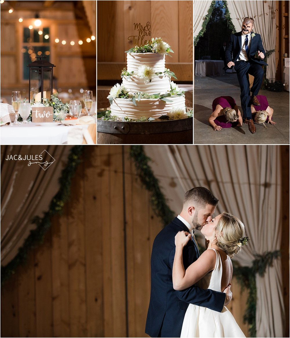 rustic wedding reception at covered bridge barn germantown NY