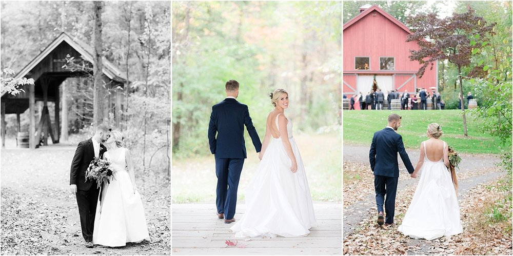 romantic wedding photo at covered bridge barn in germantown NY