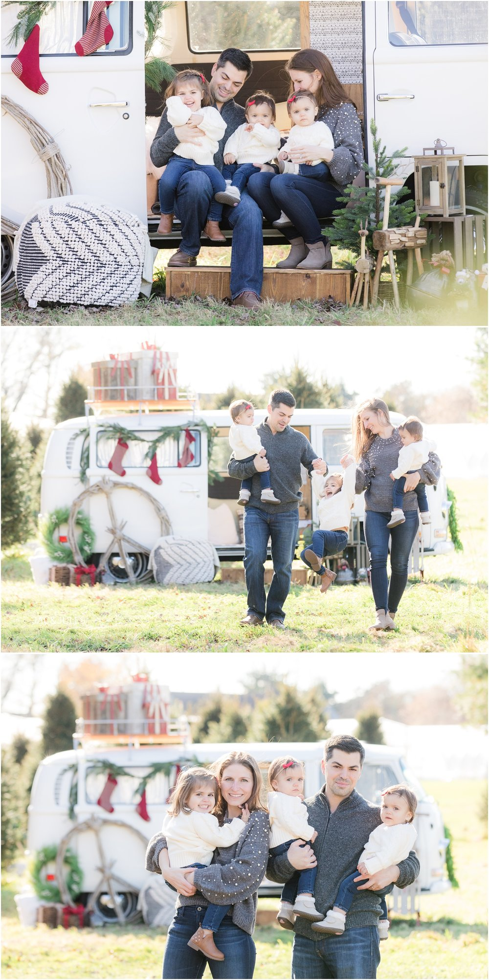 fun family holiday photos at a christmas tree farm in freehold, nj.