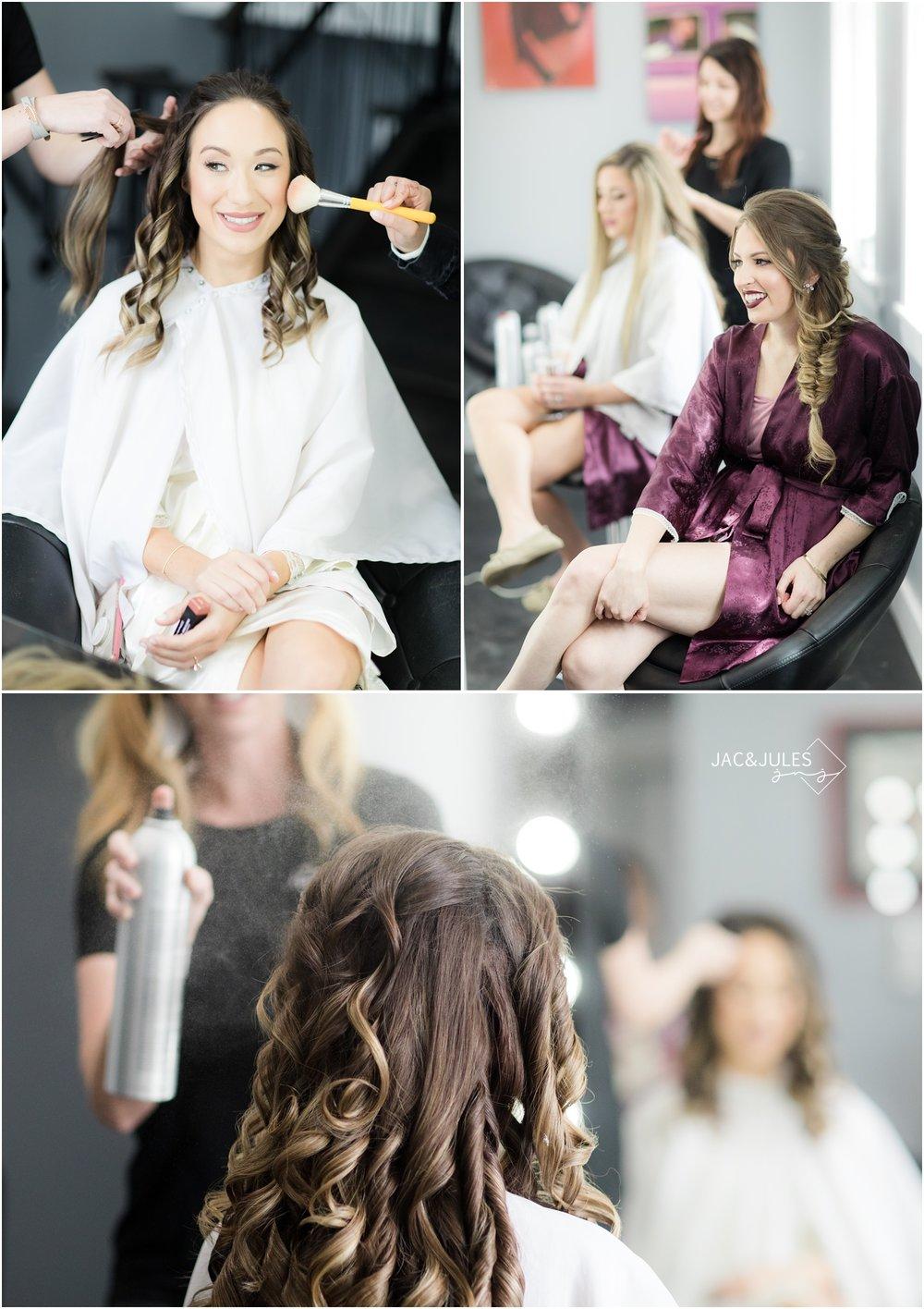 Bridal hair and makeup at the Ryland Inn.