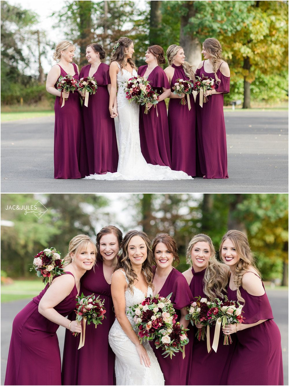 fun bridesmaid photos at the ryland inn.