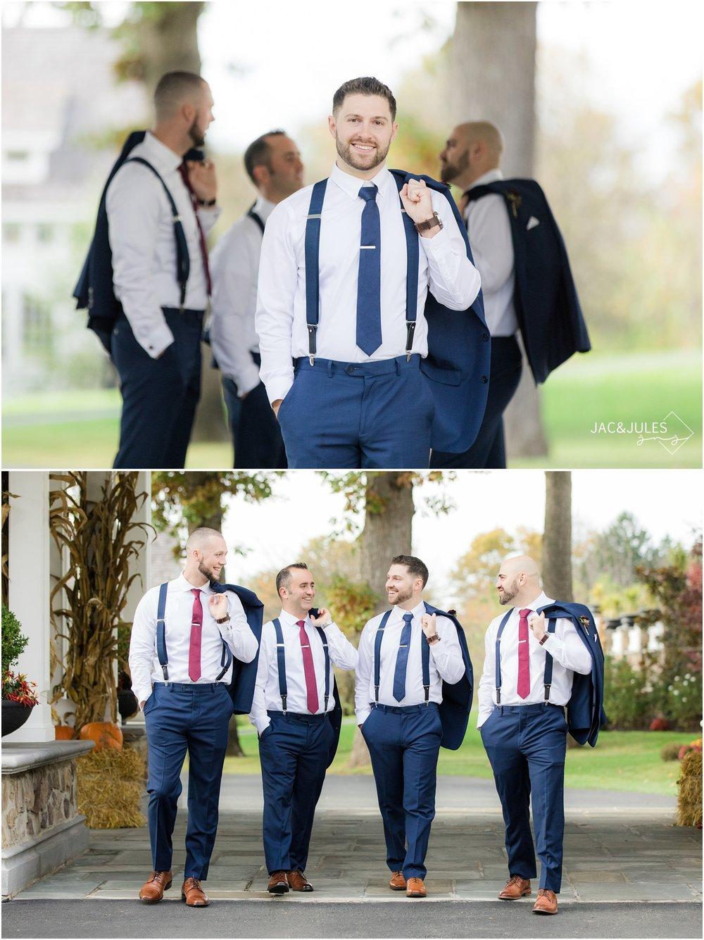 cool groom photos at the ryland inn.