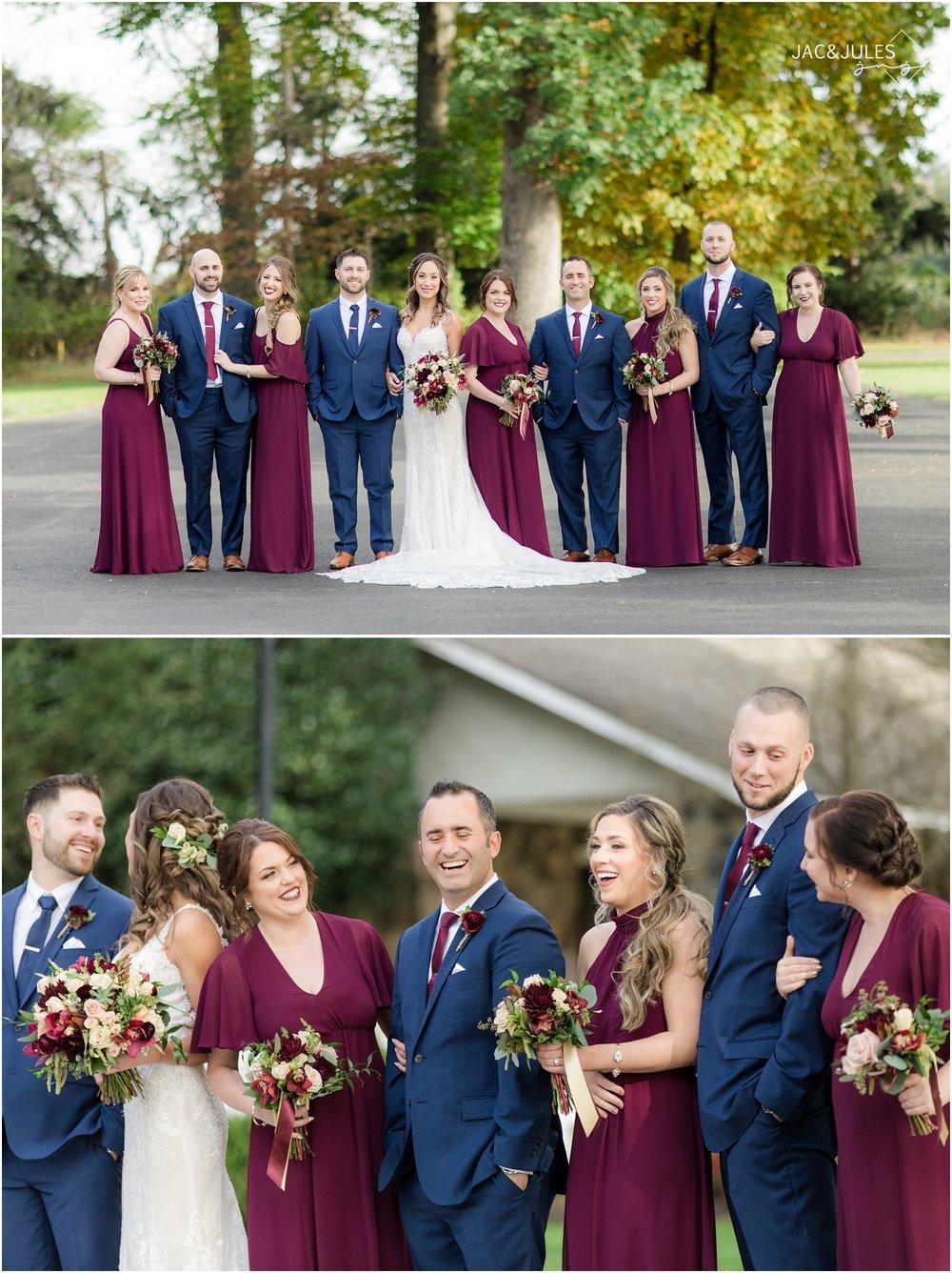 bridal party photos at the ryland inn.