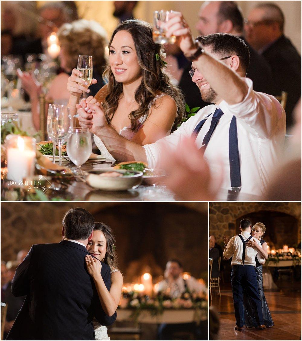 parent dances at ryland inn wedding reception.