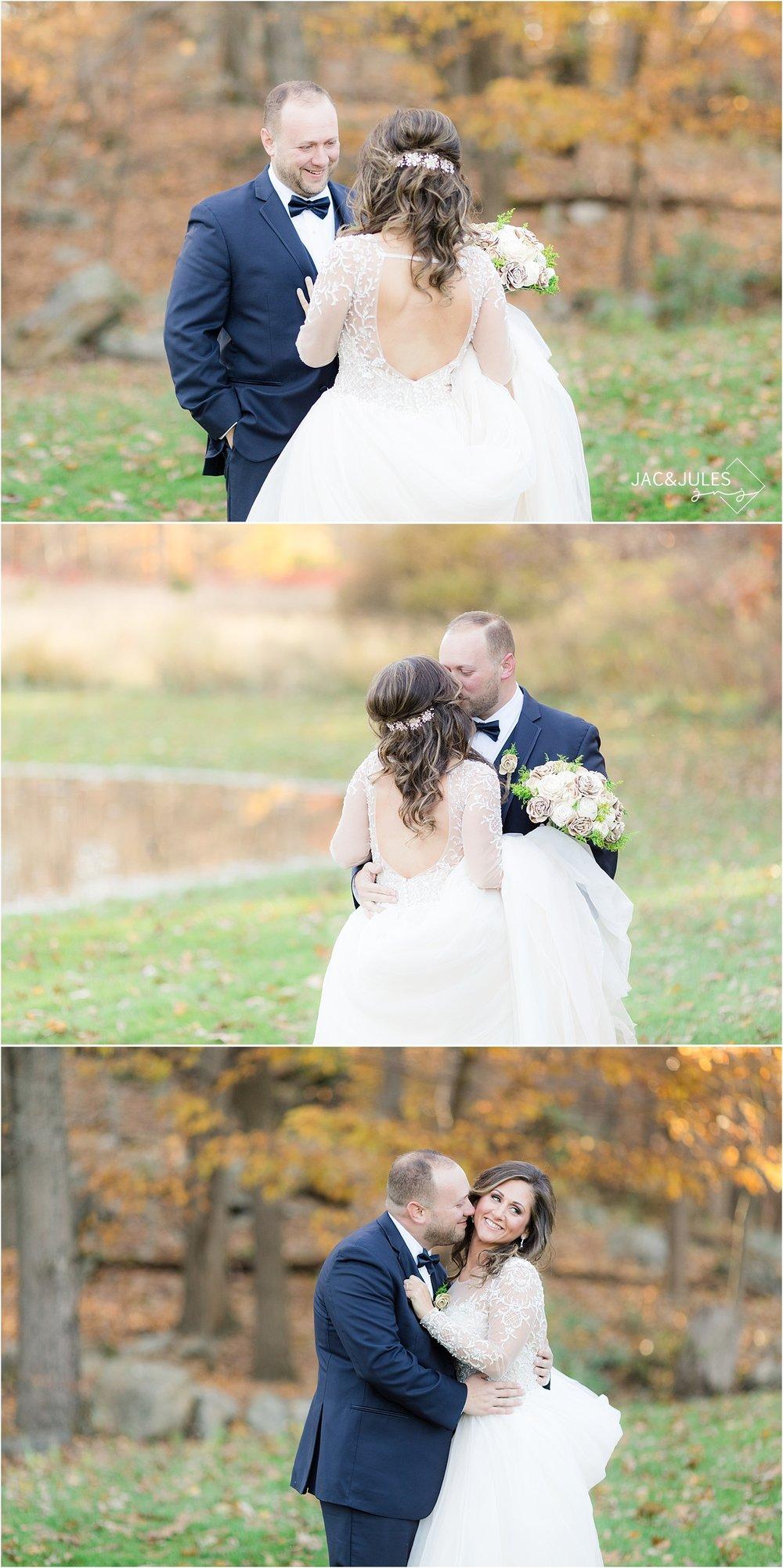 fall wedding photo at Perona Farms