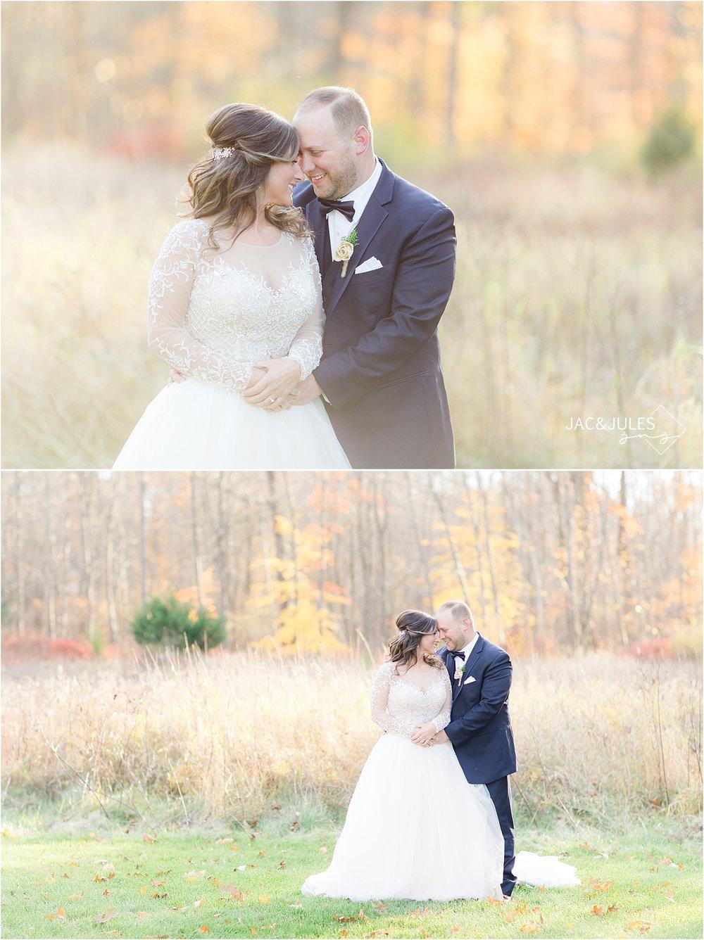 natural wedding photo at Perona Farms