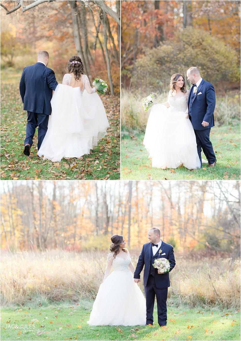 beautiful fall wedding photos at Perona Farms