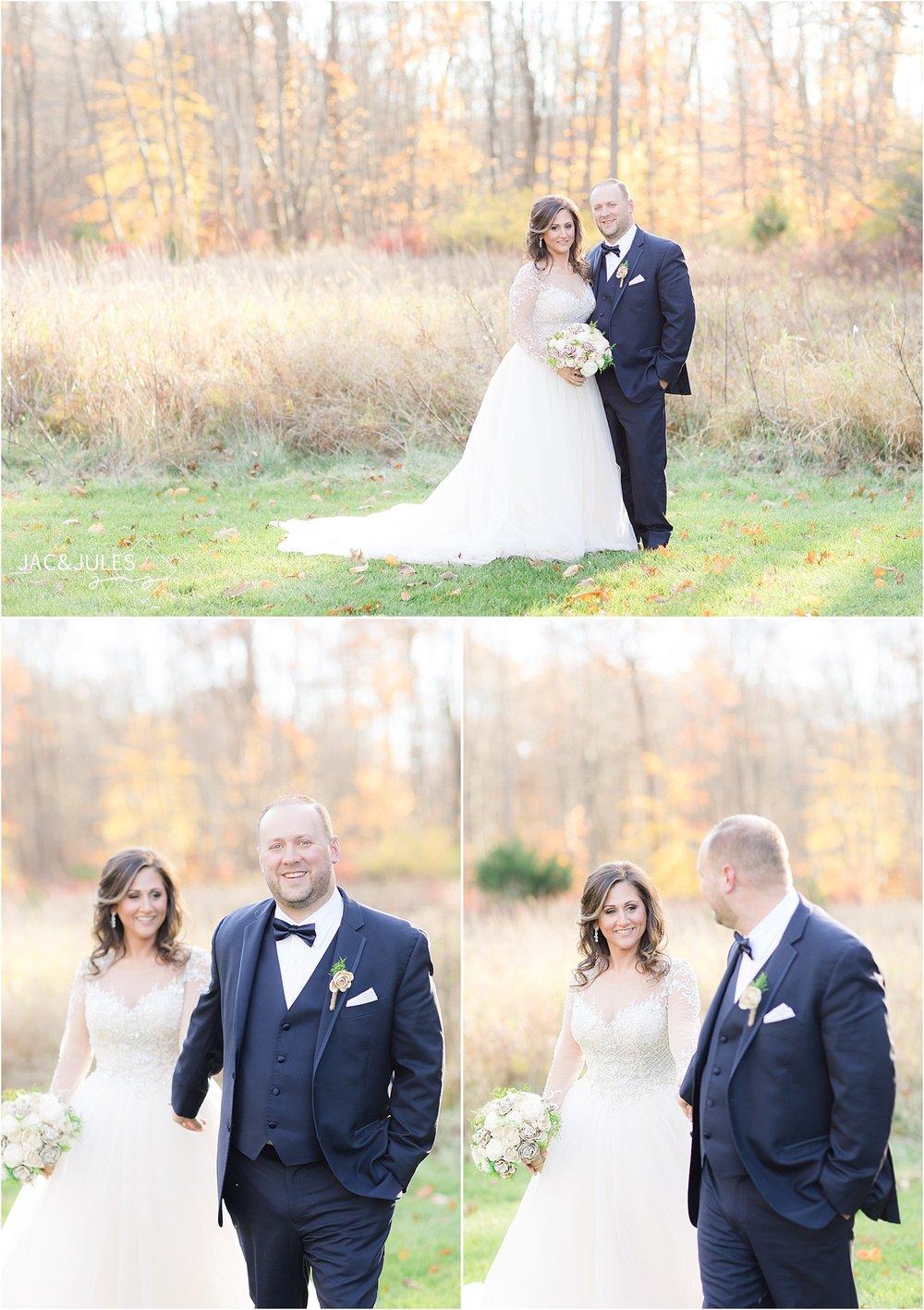 bride and groom portrait at Perona Farms