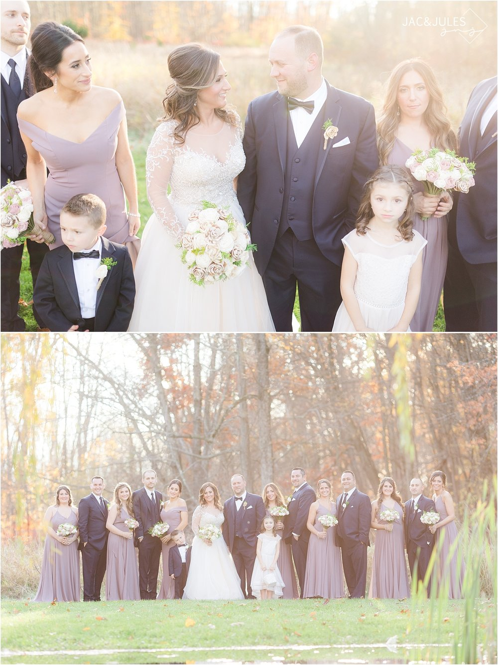 fun bridal party photo at Perona Farms