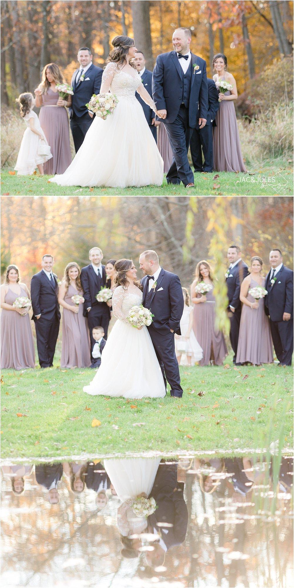 bride and groom walking at Perona Farms
