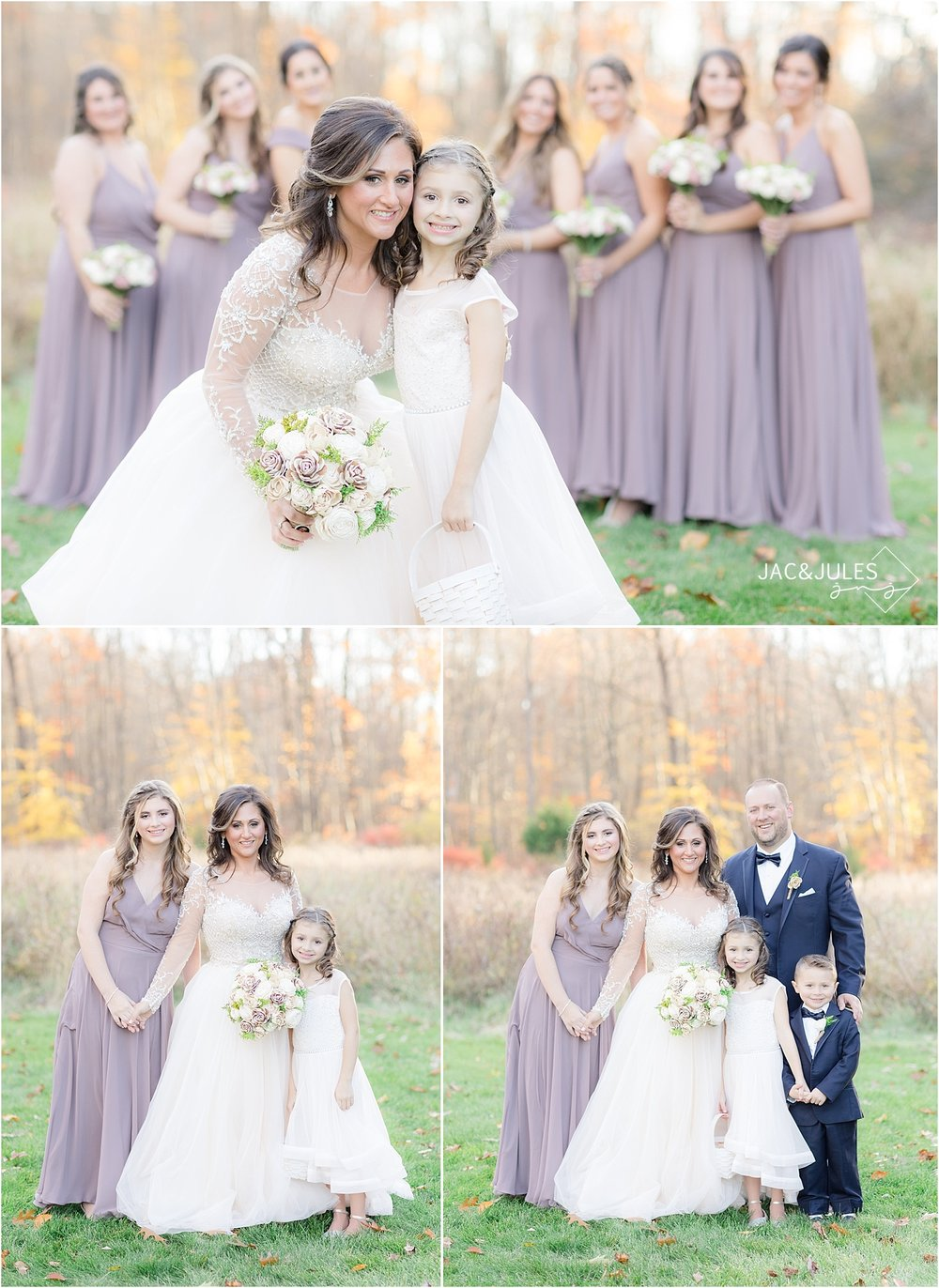 family photo at Perona Farms wedding