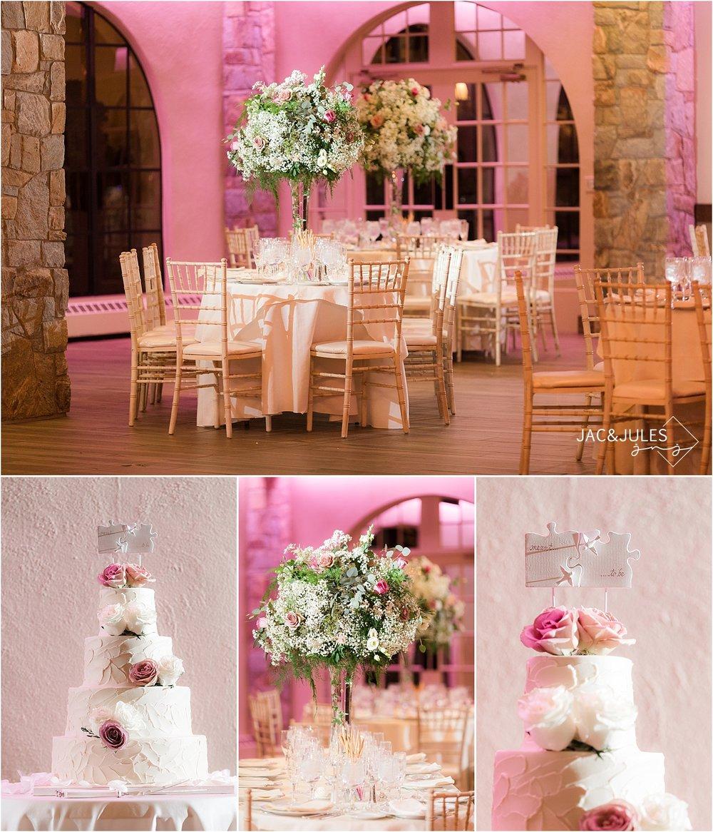 romantic wedding reception decor at Perona Farms