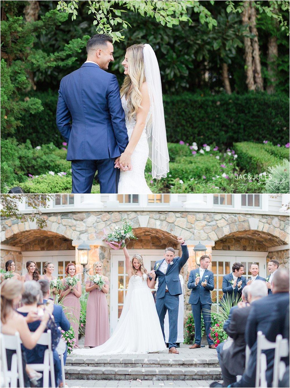 olde mill inn outdoor wedding ceremony photo