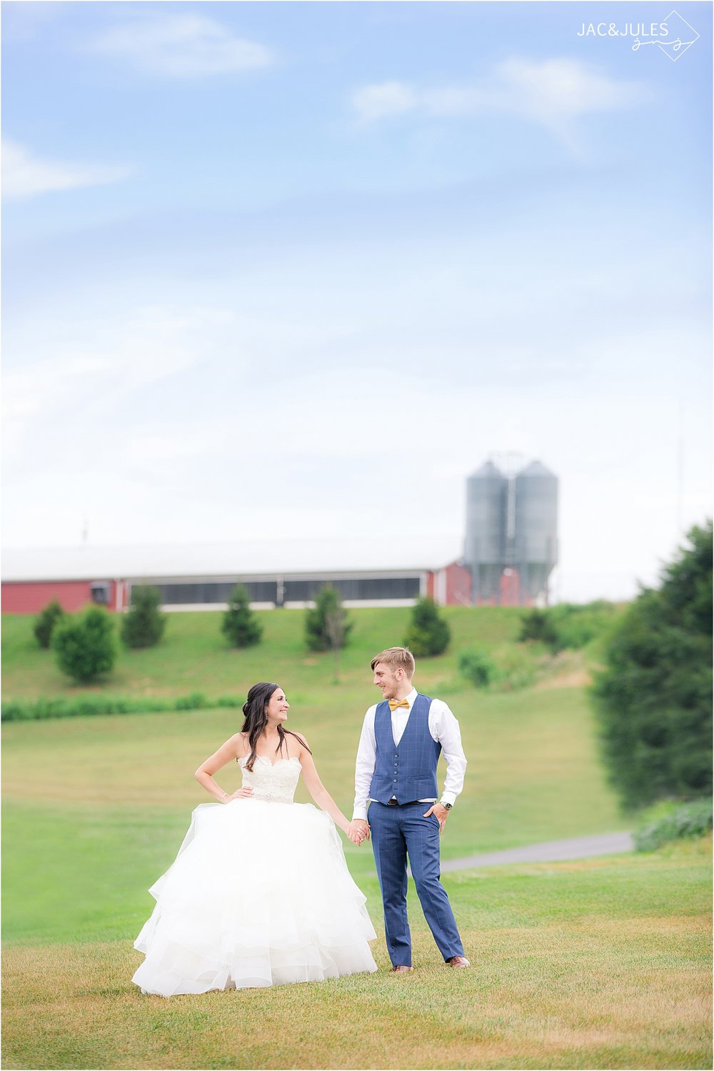 rustic wedding photo at farm at eagles ridge in Lancaster PA