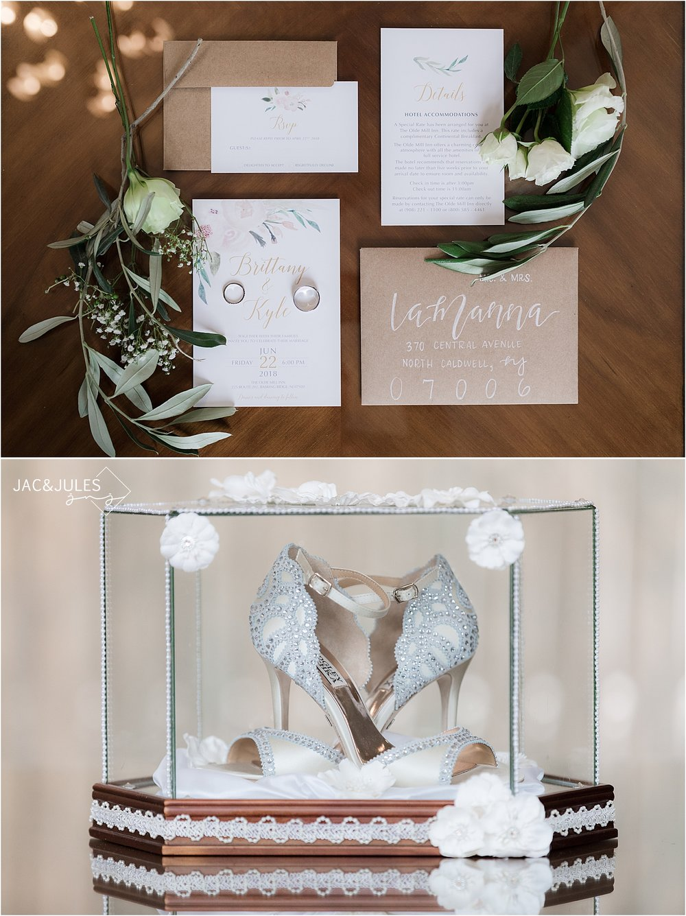 whimsical wedding stationary at olde mill inn