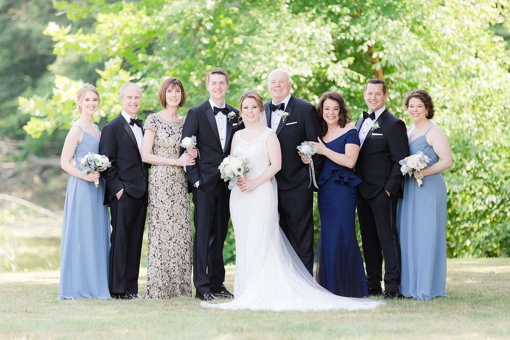 formal family photo using natural light at the palace at somerset wedding