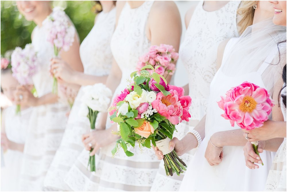 Bride and bridesmaids bouquets by Faye and Renee