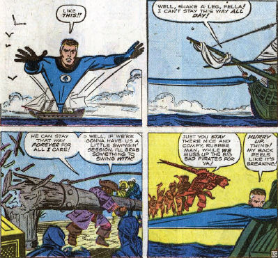 Fantastic Four #5, page 15, panels 4-7