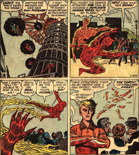 Strange Tales #101, page 8, panels 1-4
