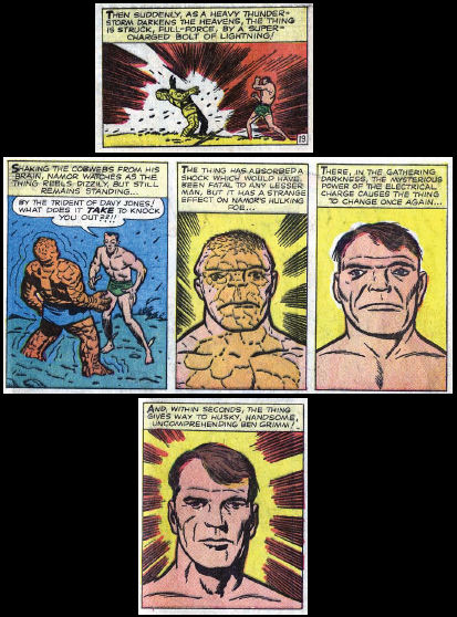 Fantastic Four #9, page 19, panel 3 and page 20, panels 1-4