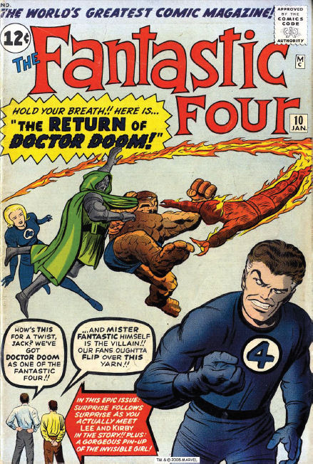 Fantastic Four #10, cover