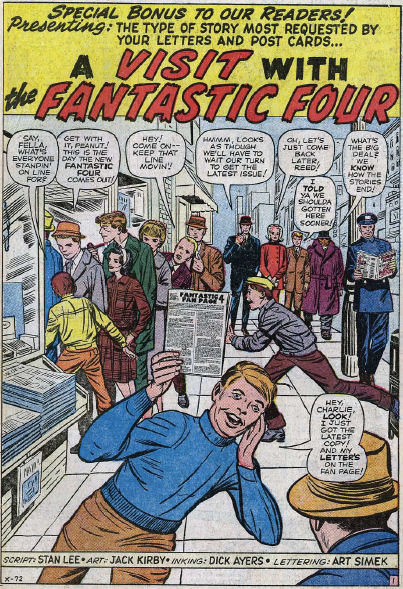 Fantastic Four #11, page 1, panel 1