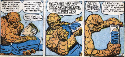 Fantastic Four #13, page 3, panel 6-8