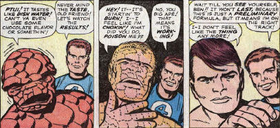Fantastic Four #16, page 9, panels 3-5