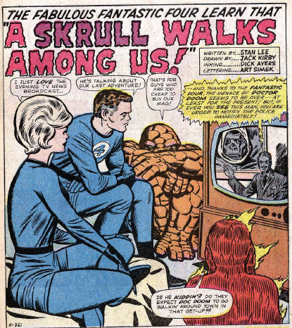 Fantastic Four #18, page 1, panel 1