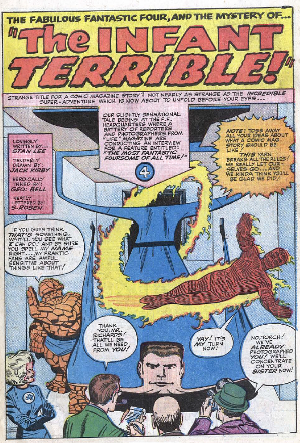 Fantastic Four #24, page 1, panel 1
