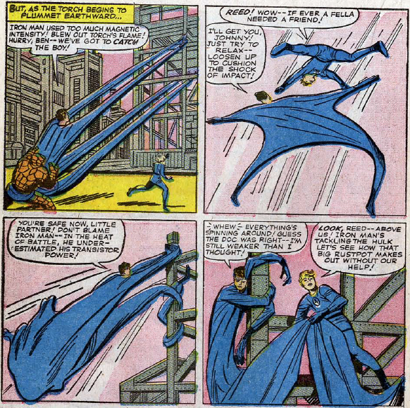 Fantastic Four #26, page 17, panels 1-4