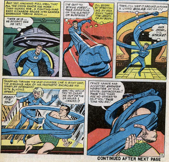 Fantastic Four #27, page 11, panels 4-8
