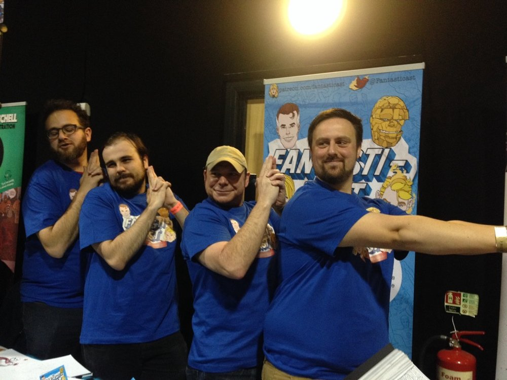 Once upon a time there were four little podcasters who went away to a comics convention...