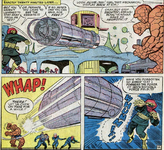 Fantastic Four #32, page 16, panels 4-6