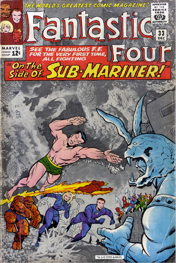 Fantastic Four #33, cover page