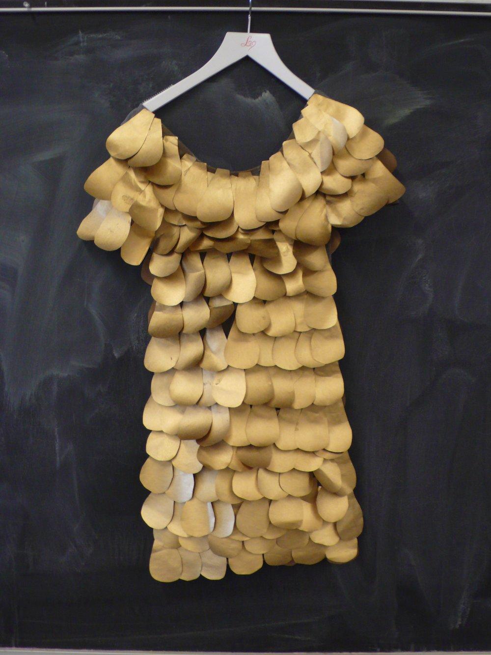 the purposeful costume, cut paper dress, 2015