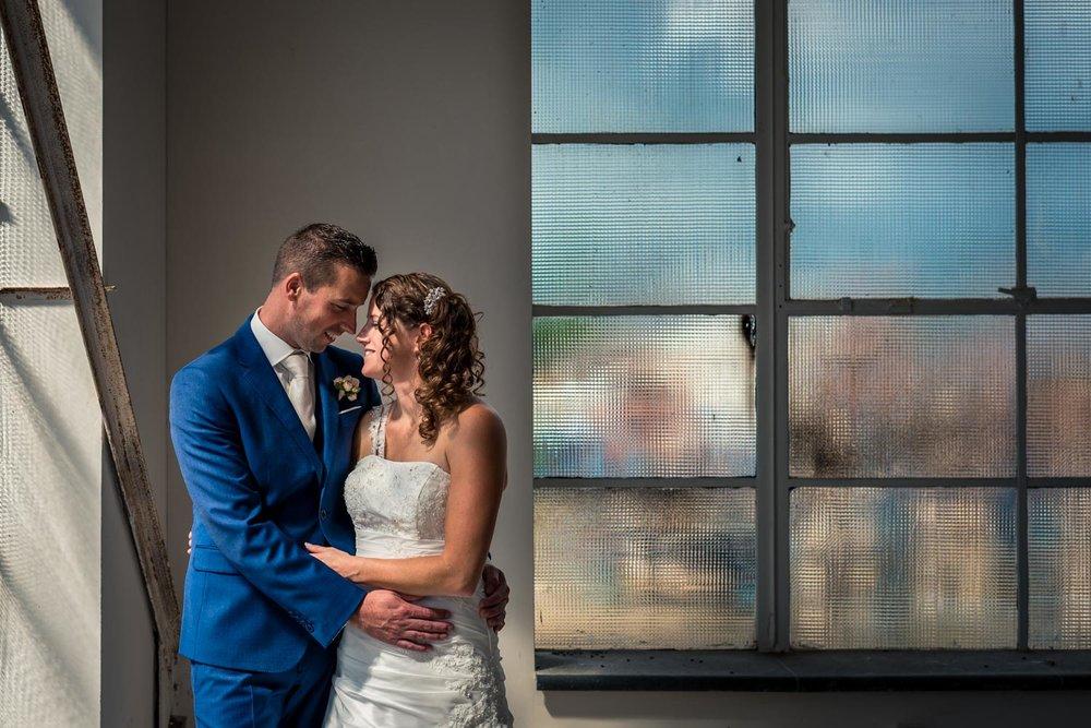 bruidsfotografie in oude suikerfabriek zevenbergen