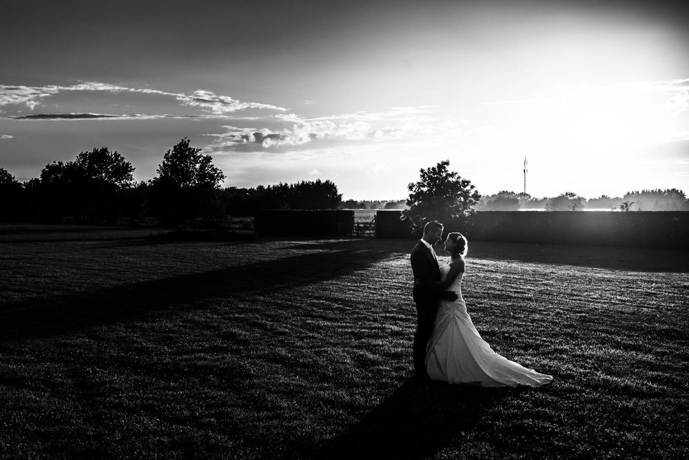trouwfotografie ondergaande zon ulvenhart