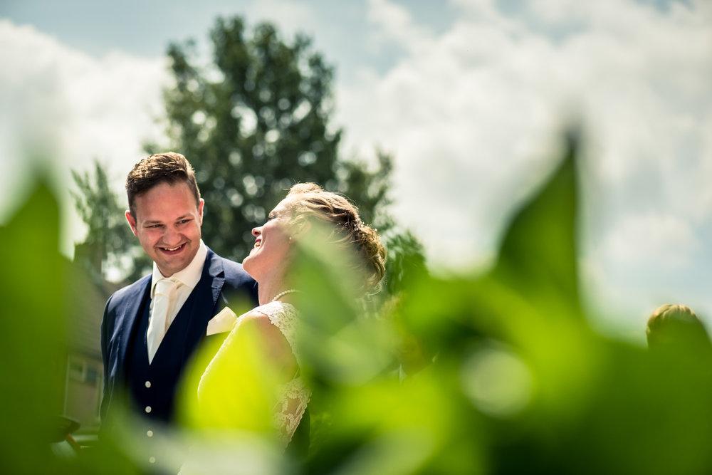 spontaan bruidspaar, trouwfoto's trouwfotografie van Cfoto