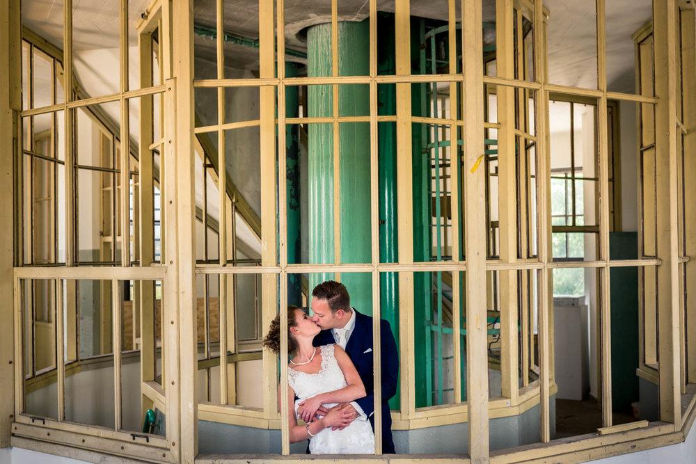 watertoren Vlaardingen, binnenzijde, Cfoto trouwfotograaf Rotterdam