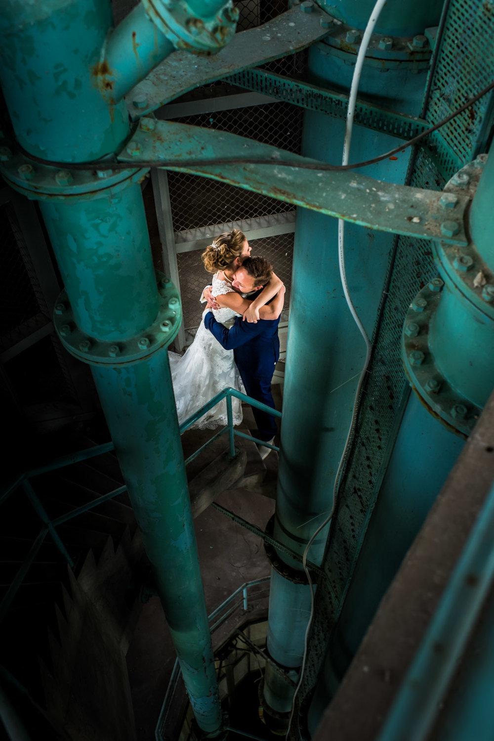 urban bruidsfotografie door trouwfotograaf Cfoto in Rotterdam