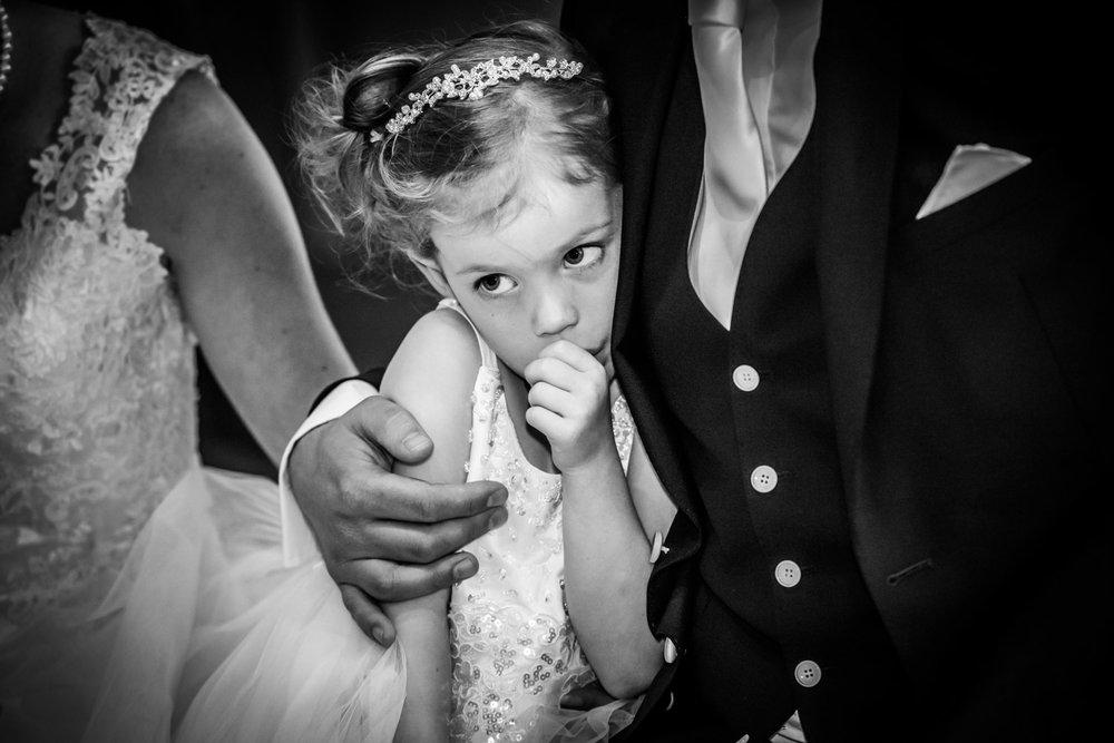 bruidsmeisje bij vader huwelijk in Vlaardingen