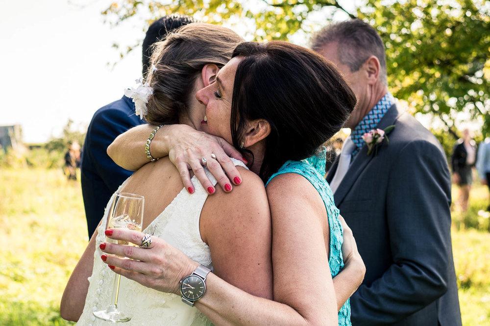 felicitaties door moeder van de bruid