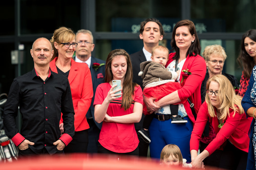huwelijk met als thema kleur rood in Brabant